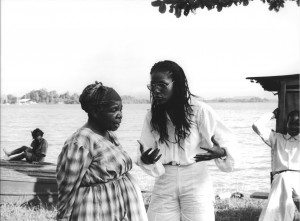 Martiniquan filmmaker Euzhan Palcy - Patron of the archive, directing the female lead actress Darling Ligitimus, on the set of her award-winning 1983 film Rue Cases Negres.