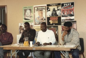 Senegalese Filmmaker Ousmane Sembene at Ceddo Film Workshop Circa 1996(June Givanni)