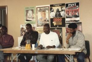 Senegalese Filmmaker Ousmane Sembene at Ceddo Film Workshop Circa 1996(June Givanni)