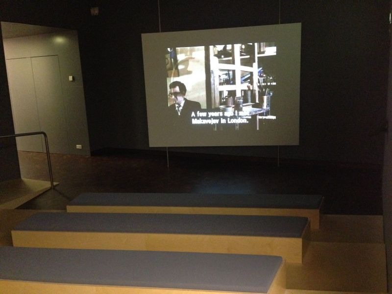 Mini screening space within the D.I.Y Archive