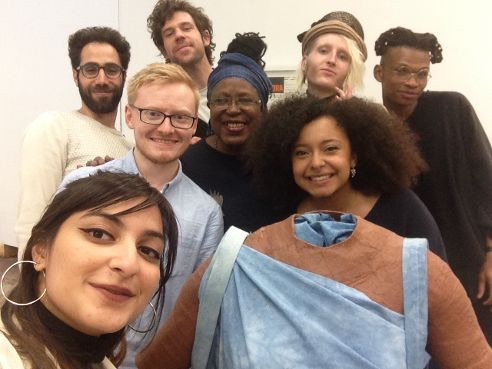June Givanni with CSM Fine Art students who were inspired with JGPAFA during June Givanni's pratitioner's residence at Central Saint Martins