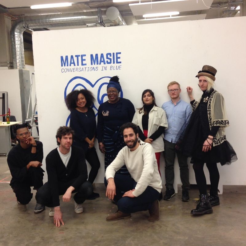 Group at the Mate Masie      Opening Show