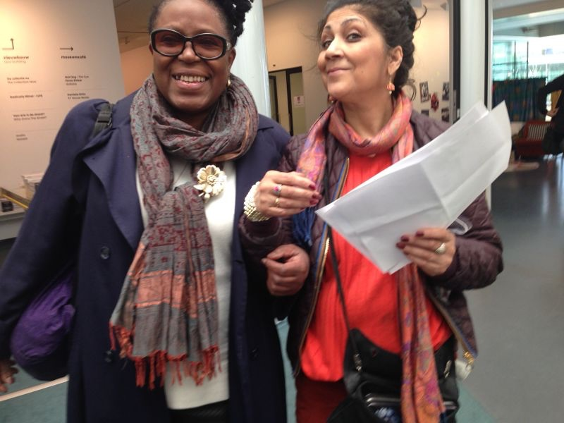 June Givanni and Chila Burman together at the exhibition