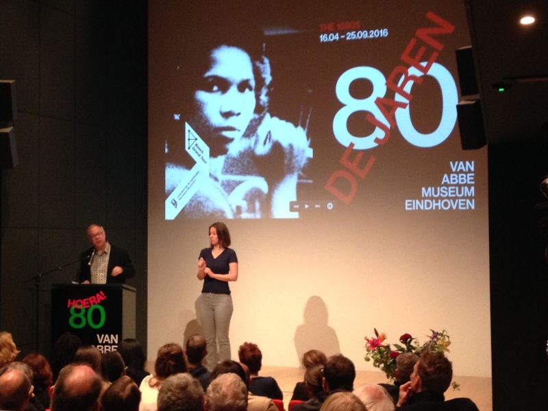 Charles Esche, director of Vann Abbe Museum, in speech at the opening of The 1980s: Today's Beginnings Exhibition