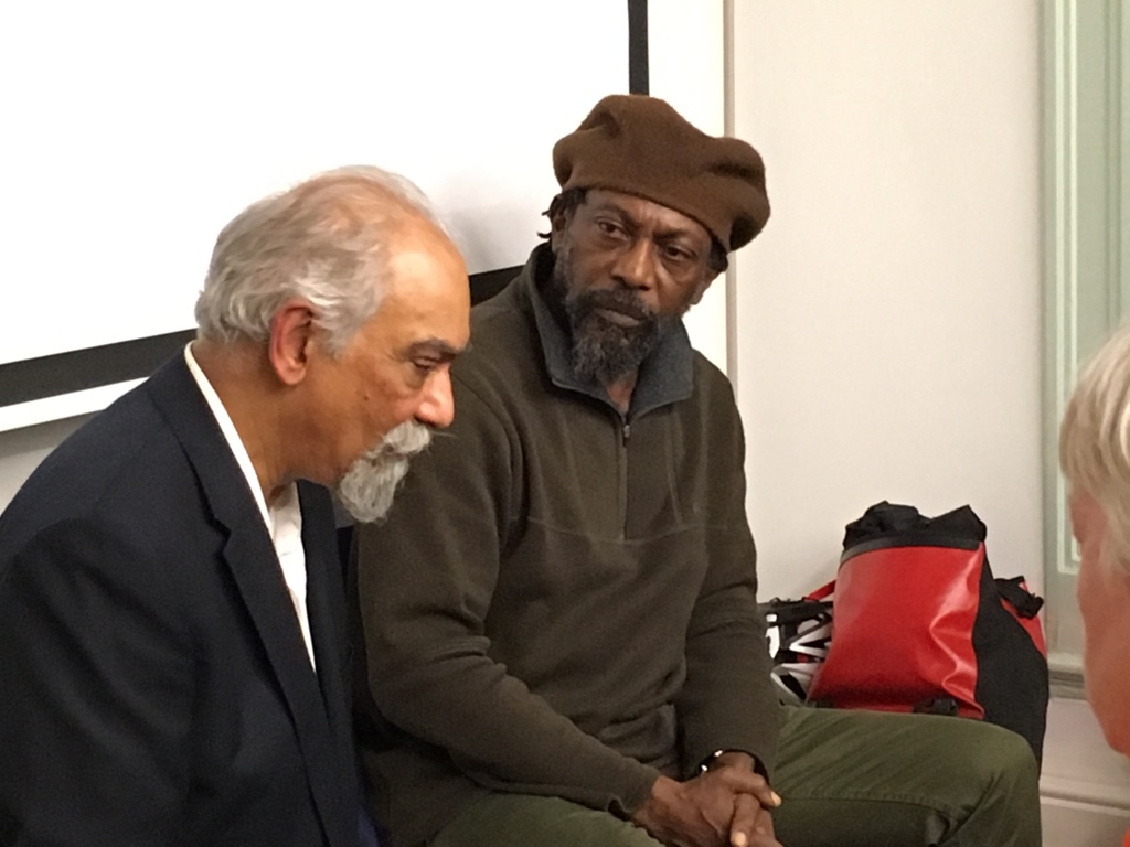 H.O. Nazareth and Colin Prescod (Left to Right) in conversation after the film screening